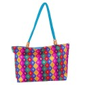 Womaniya Women's Canvas Tote Bag One Size Turquoise B00TQN34I2