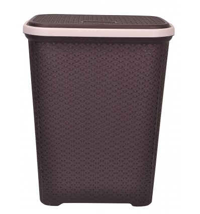 "Polyset Laundry Basket / Basket with Lid / Basket for Clothes / Big Size Basket for Home / Size : ( 17.5"" X 13"" X 22"" ) Inches"
