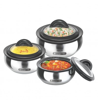 Milton Stainless Steel Casserole Clarion Jr Gift Set, Silver