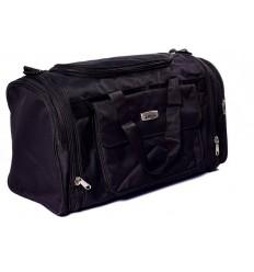 Zenniz Expandable Travel Bag Duffel Cabin Luggage Traveling Shoulder Bag For Flight for Men or Women Side Folder (Black)