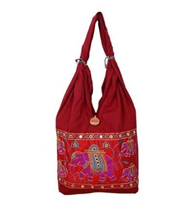 Womaniya Women's Canvas Shoulder Bag One Size Brown B00TQMZIBO