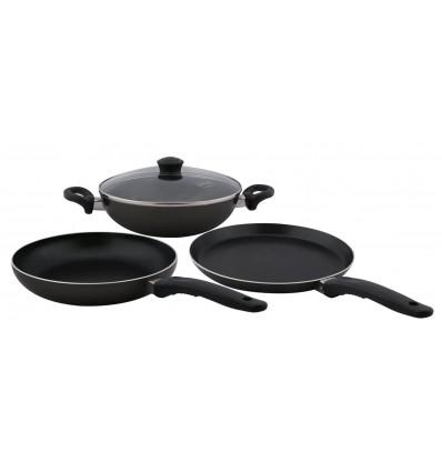 Nirlep Kitchen Essential Gift Set, 4-Pieces, Black