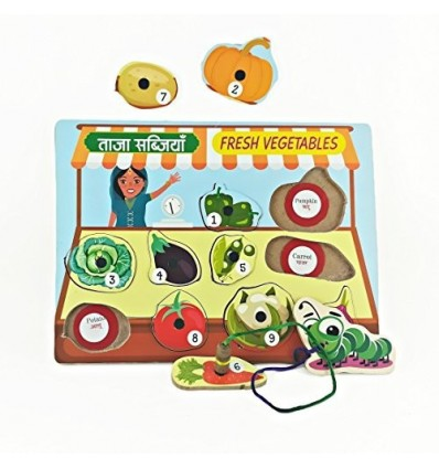 MFM TOYS Magnetic Vegetables Tray Puzzle
