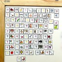 MFM TOYS Hindi Alphabets & Pictures Magnetic Tiles for classroom/home 96 Magnetic Tiles (Does not include Magnetic Board)