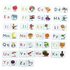 MFM TOYS English Alphabets & Picture Magnetic Tiles for classroom/home 52 Magnetic Tiles (Does not include Magnetic Board)
