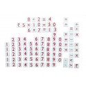 MFM TOYS Numerals and Operations Signs Magnetic Maths Manipulatives for classroom/home 100 Magnetic Tiles (Does not include Magn