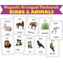MFM TOYS Birds & Animals Bilingual (Hindi+English) Magnetic Flashcards