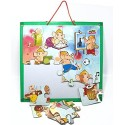 MFM TOYS 'All-Rounder Ganesha' Magnetic Jigsaw Puzzle (16 pcs) with Magnetic Playing Board