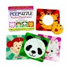 MFM TOYS Peepuzzle - Mini Magnetic Wooden Photoframe Puzzle Combo Of 4 (Animals Puzzle) Fridge Edition Unique Toys For Kids 3 To