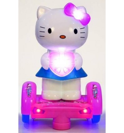 Teena'S Hello Kitty Balance Wheel - Musical Toy With Lightening Effect For Babies