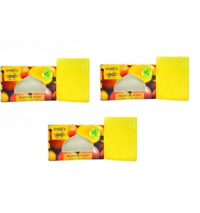 KHADI VAGAD HAND MADE SOAP - MANGO (PACK OF 3) (MRP -240)