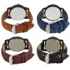 Om Designer Analogue Multicolor Dial Watch Leather Strap Watch- For Men's & Boy's_(Combo Pack of 4)