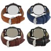 Om Designer Analogue Multicolor Dial Men's & Boy's Watch Leather Strap (Combo Pack of 4)