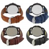 Om Designer Analogue Multicolor Dial Watch Leather Strap Watch -For Men's & Boy's (Combo Pack of 4)