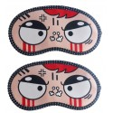 Jenna Angry 2 Cartoon Face Sleeping Eye Mask (Pack of 2)
