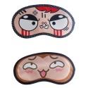 Jenna Angry Happy Cartoon Face Sleeping Eye Mask (Pack of 2)