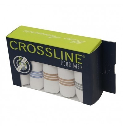 Crossline Cotton Handkerchief Pack Of 5