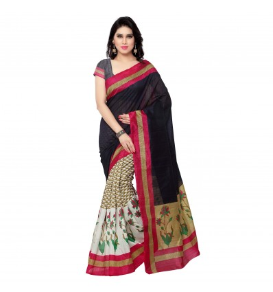 Indian Robe Bhagalpuri Silk Saree With Blouse Fabric
