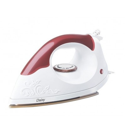 Morphy Richards Daisy 1000 w Dry Iron, Wooden Finish Handle with Teflon Non-Stick Coated soleplate