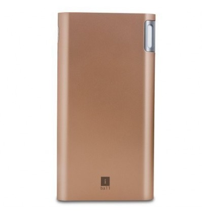 iBall 10000mAh Polymer With 2 USB Port Higher Safety Lightweight Power Bank