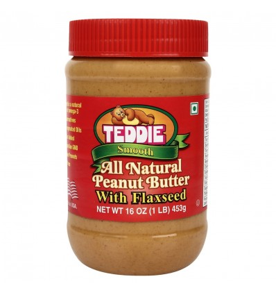 Teddie USA All Natural Smooth Peanut Butter with Flaxseed 450g