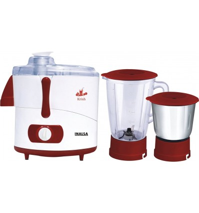 Inalsa Krish JMG Juicer Mixer and Grinder Electronic with 2 Jars 3 Speed 2 Year Warranty 500 Watts Powerful Motor