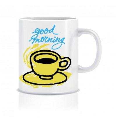Good Morning Ceramic Coffee Mug ED008