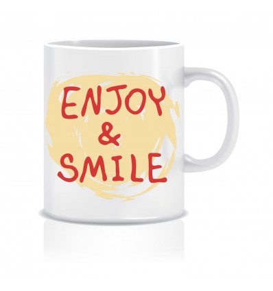 Enjoy N Smile Ceramic Coffee Mug ED010