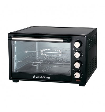 Wonderchef 63152220 28-Litre Oven Toaster Grill with Convection and Rotisserie (Black)
