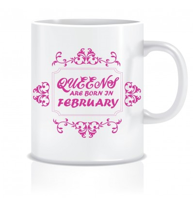 Everyday Desire Queens are Born in February Ceramic Coffee Mug - Birthday gifts for Girls, Women, Mother - ED467