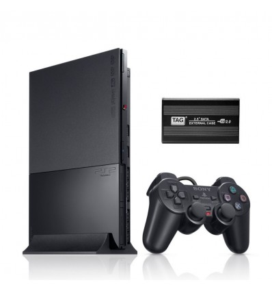 Sony Playstation 2 Complete Set +Memory Card+ 160GB USB Hard Disk 40 Games Loaded