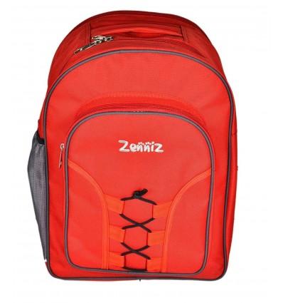 Zenniz School Bags for High School Teenagers of 15 years Boys Girls Big Stylish (Zig Zag Red)
