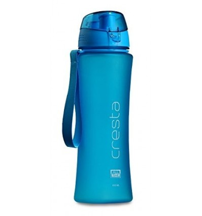 All Time Cresta Feather Touch Grip Polycarbonate Water Bottle, 650ml, Blue