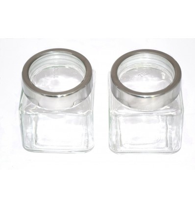 Treo Cube Jar Set, 580ml, 2-Pieces