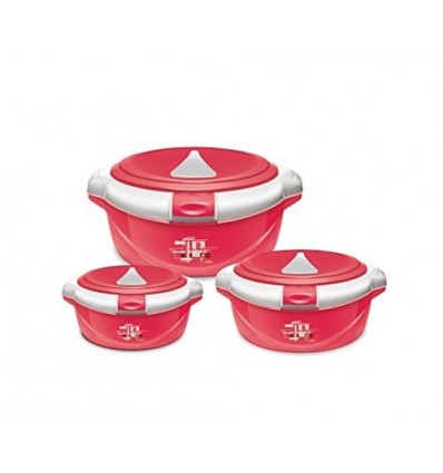 Milton Casserole Gift Set of 3 One Touch ( Press n Push Detachable Lid )