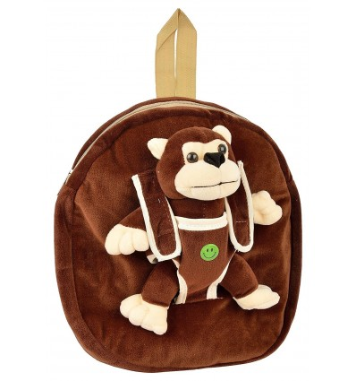 Zenniz Mini Backpacks for Toddlers Detachable Toy Monkey