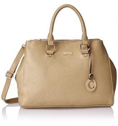 CATHY LONDON Girl's Cotton Hand Bag Shoulder Bag Tote Medium Gold B01FJR9MPW