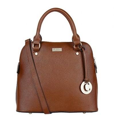 CATHY LONDON Girl's Cotton Hand Bag Medium Brown