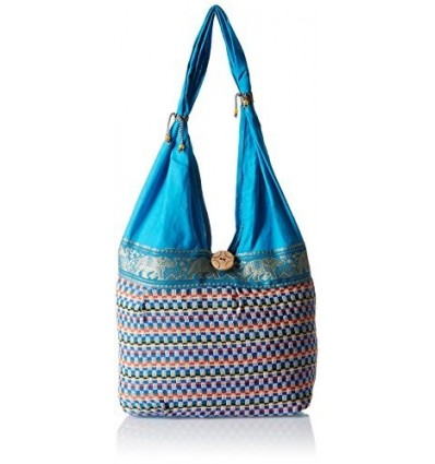 Womaniya Women's Canvas Shoulder Bag 32 Cm x 32 Cm x 10 Cm Blue B00SJ1JEVS